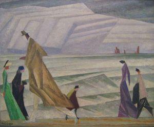 ah-art Feininger 1913 am strande