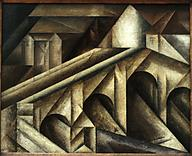 ah-art feininger 1917 Bridge III, Cologne museum