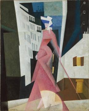 ah-art feininger 1922 Lady in Mauve 05-FEININGER006
