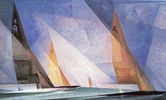 ah-art Feininger 1929 Sailing boats Blue-orange-1024x618
