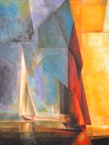 ah-art feininger 1929 Stiller_Tag_am_Meer_3.Kopie_50X40