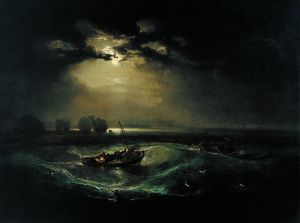 ah-art turner 1796 fishermen at sea, his 1st oil at RA