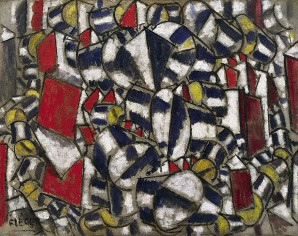 ah-art Leger 1913 Contrast of Forms (Contraste de formes), oil on burlap, 98.8 x 125 cm, Guggenheim Museum, New York