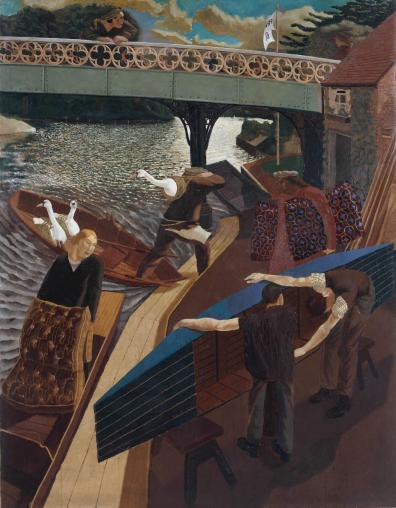 Swan Upping at Cookham 1915-19 Sir Stanley Spencer 1891-1959 Presented by the Friends of the Tate Gallery 1962 http://www.tate.org.uk/art/work/T00525