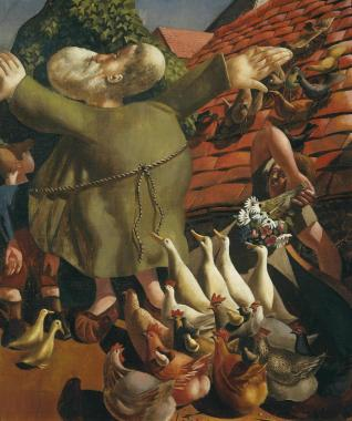 St Francis and the Birds 1935 Sir Stanley Spencer 1891-1959 Presented by the Trustees of the Chantrey Bequest 1967 http://www.tate.org.uk/art/work/T00961