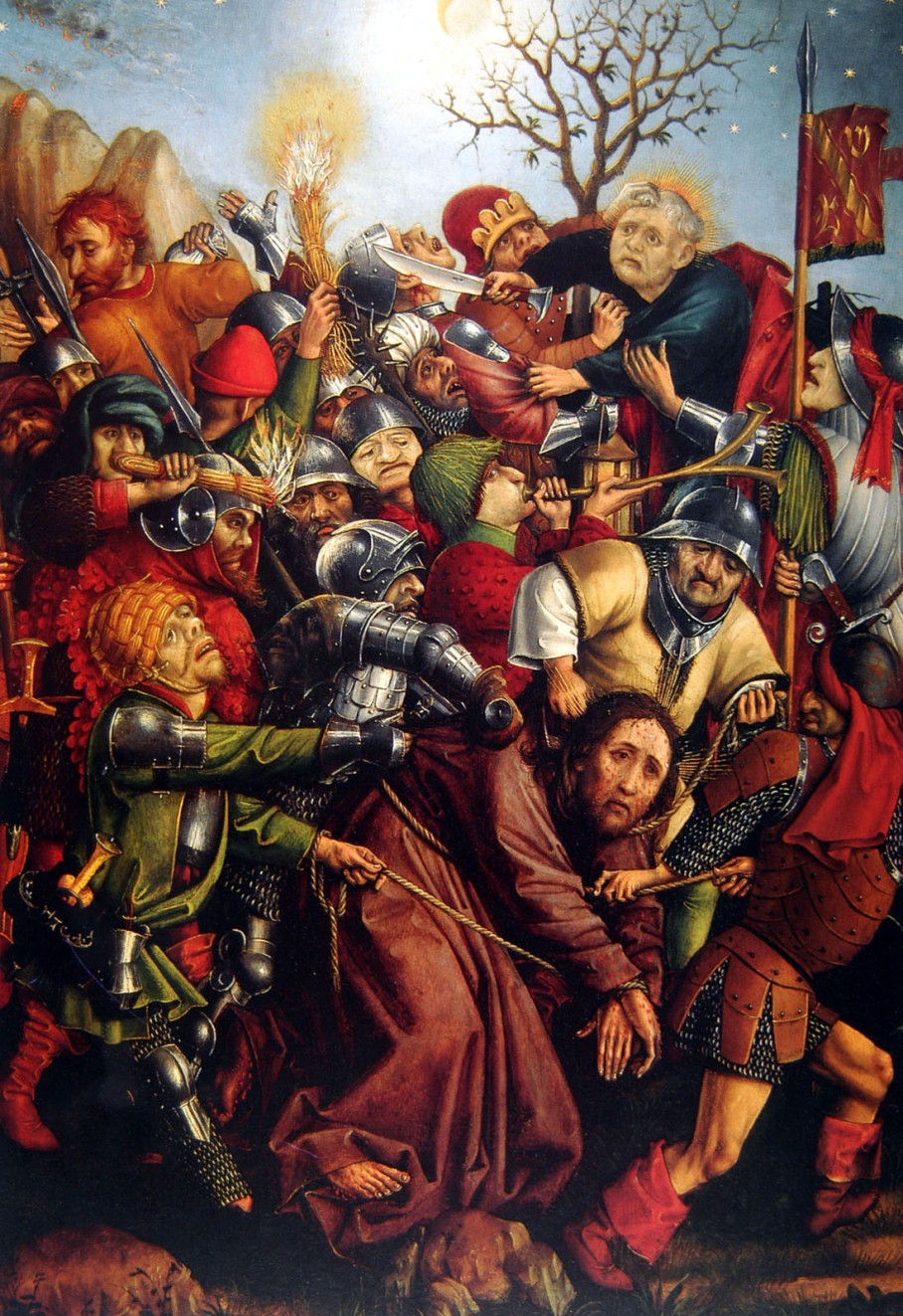 Master of the Karlsruhe Passion, c1440-50, Arrest of Christ