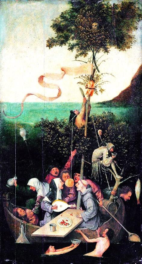 The ship of fools, by Jheronimus Bosch