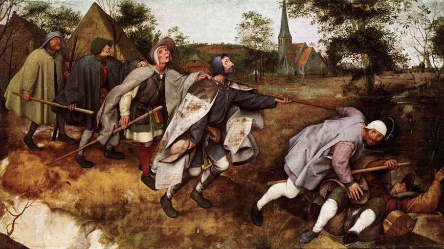ah-art bruegel 1568 The Parable of the Blind Leading the Blind Naples
